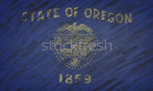 Oregon pavillon peint craie tableau noir Photo stock © asturianu