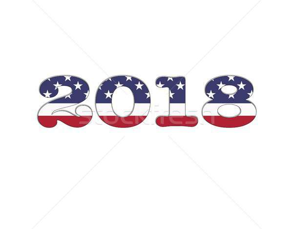 Stock photo: Happy New Year 2018.