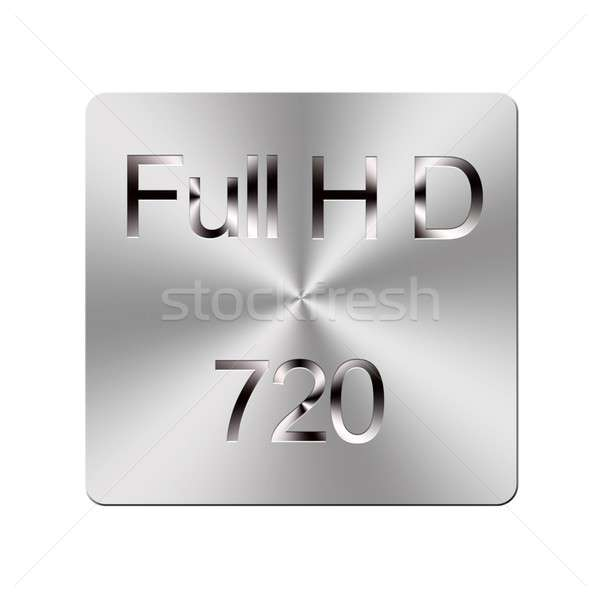 Metal Full HD button. Stock photo © asturianu