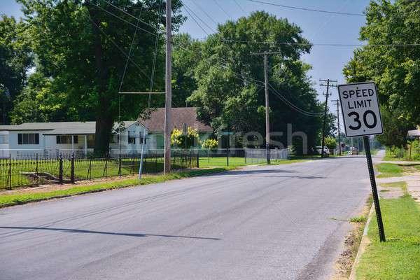 Stock fotó: Sebességhatár · 30 · felirat · város · Missouri · utca