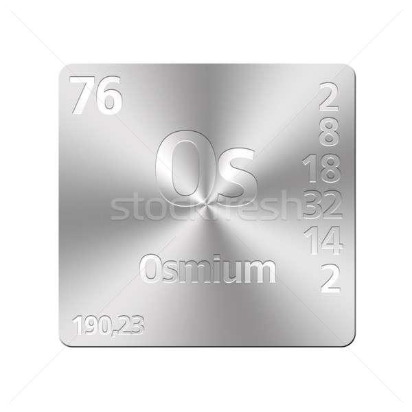 Isolé métal bouton éducation laboratoire Photo stock © asturianu