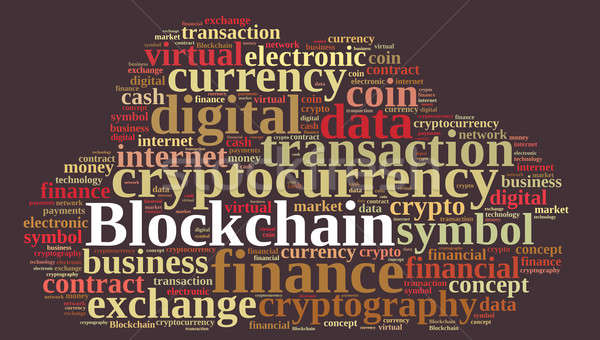Words cloud with Blockchain. Stock photo © asturianu