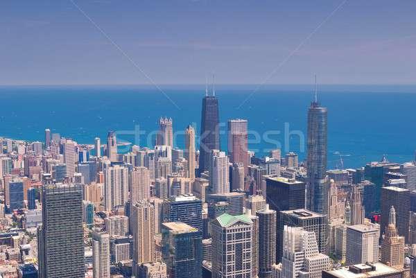 Chicago Skyline from above. Stock photo © asturianu
