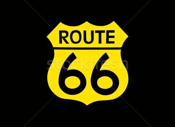 Travel USA sign of Route 66 label. Stock photo © asturianu