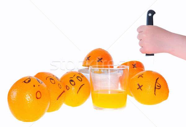 Suco de laranja preparação fruto saúde laranja cor Foto stock © asturianu