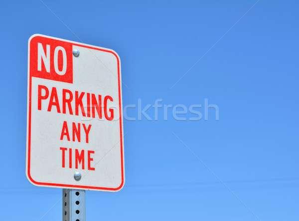 No Parking Any Time sign. Stock photo © asturianu