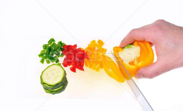 Sebze mutfak gıda sağlık yeşil Stok fotoğraf © asturianu