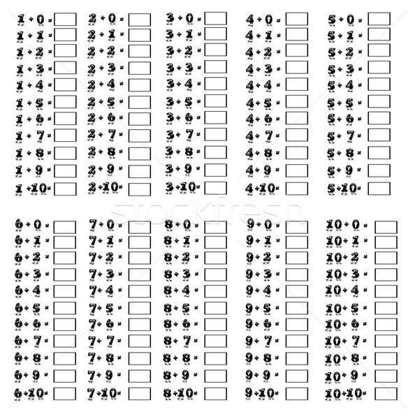 Addition table. Stock photo © asturianu