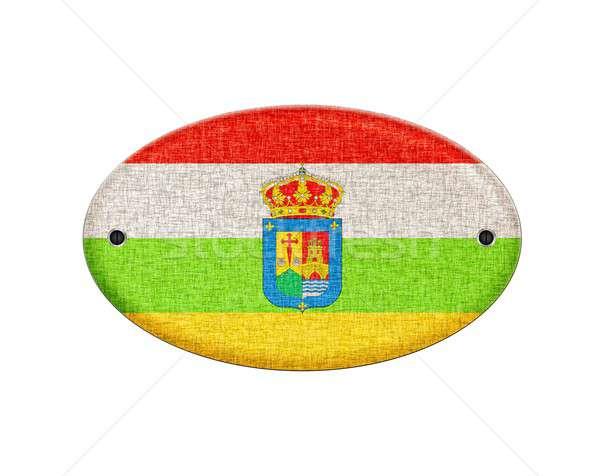 Wooden La Rioja flag. Stock photo © asturianu