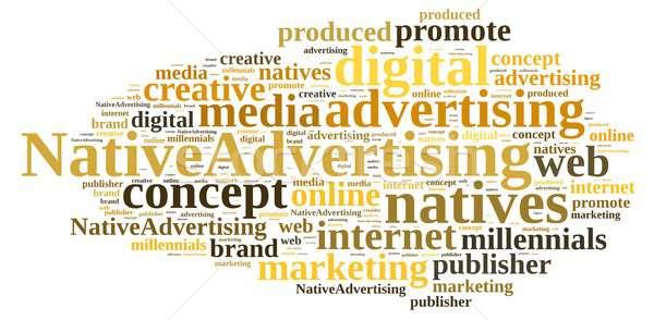 Nativo pubblicità illustrazione word cloud internet abstract Foto d'archivio © asturianu