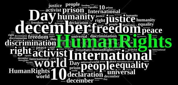 Internacional derechos humanos día nube de palabras ilustración libertad Foto stock © asturianu