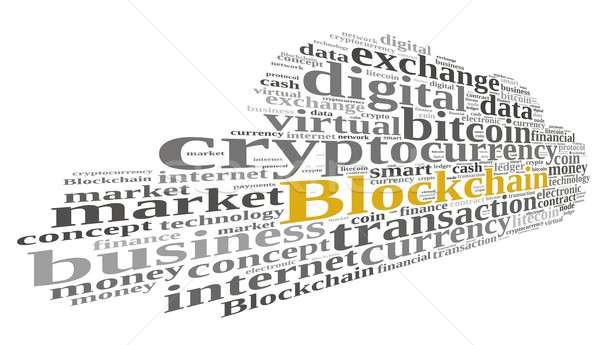 Szavak felhő illusztráció szófelhő szó pénz Stock fotó © asturianu