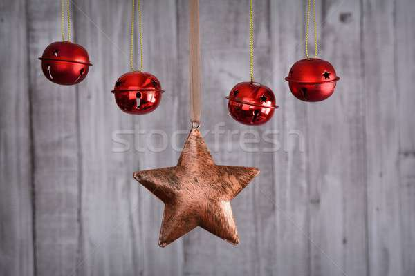 Christmas decoratie star Rood Stockfoto © asturianu