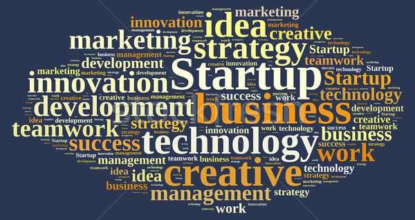Stockfoto: Woordwolk · woord · startup · illustratie · business · werk