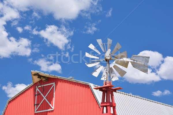 Molino de viento agrícola granja EUA Oklahoma cielo Foto stock © asturianu