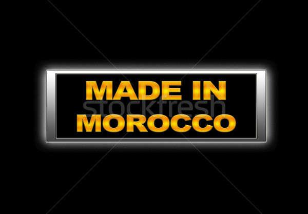 Made in Morocco. Stock photo © asturianu