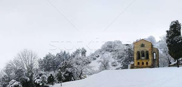 St. Mary of Naranco, Oviedo. Stock photo © asturianu
