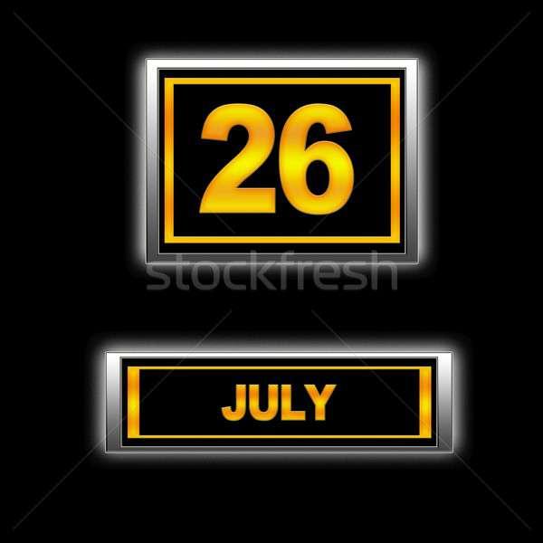 26 ilustração calendário educação preto agenda Foto stock © asturianu