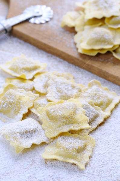 Friss ravioli konyhaasztal étel konyha asztal Stock fotó © asturianu