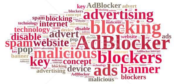 Word cloud on ad blockers. Stock photo © asturianu