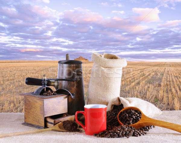 Bag of coffee beans. Stock photo © asturianu