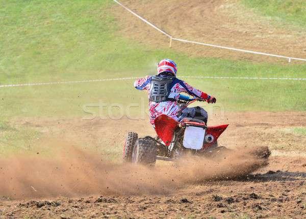 Rider on a quad motorbike. Stock photo © asturianu