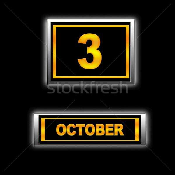 October 3. Stock photo © asturianu