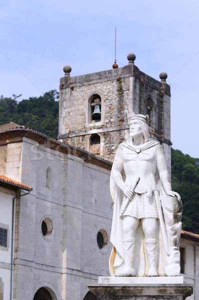 Statue of King Silo in Pravia Stock photo © asturianu
