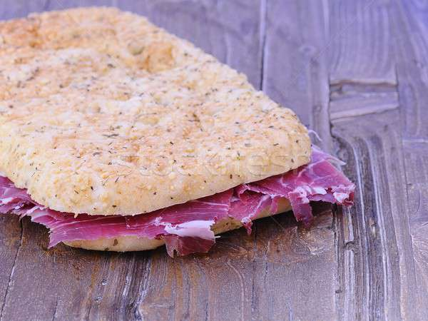 Focaccia with ham Iberian. Stock photo © asturianu