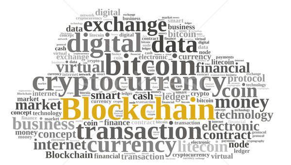 Words cloud with Blockchain Stock photo © asturianu