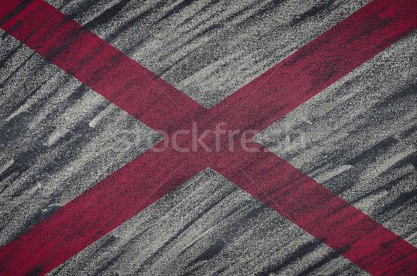 Алабама флаг окрашенный мелом доске Сток-фото © asturianu