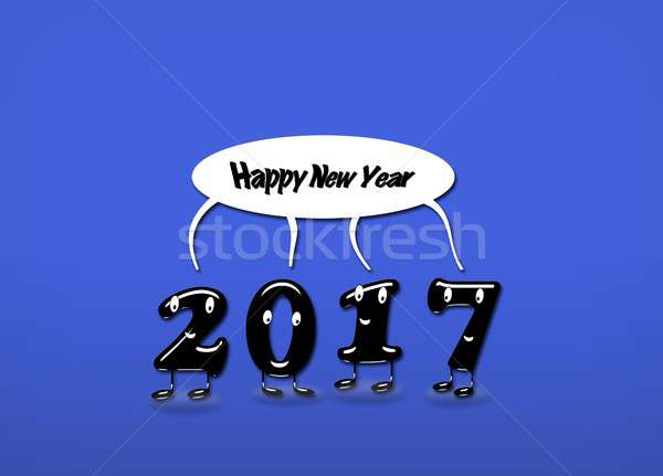 Animated numerals of 2017 year congratulating with new year Stock photo © asturianu