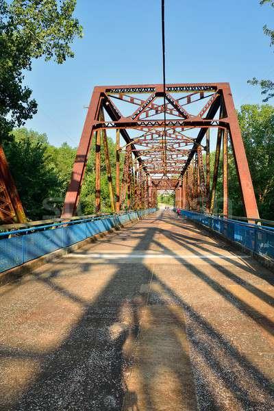 Chain of Rocks bridge on the Mississippi river. Stock photo © asturianu