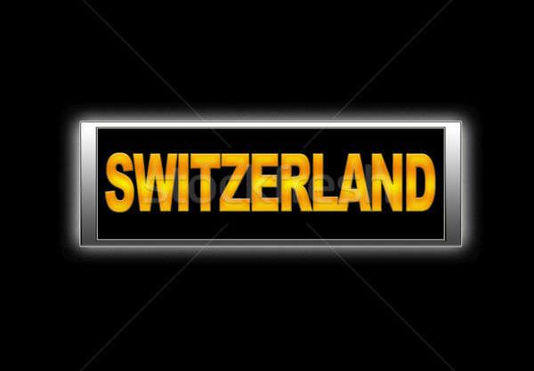 İsviçre imzalamak arka plan tatil tatil Stok fotoğraf © asturianu