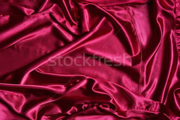 Rippled pink satin from above Stock photo © asturianu