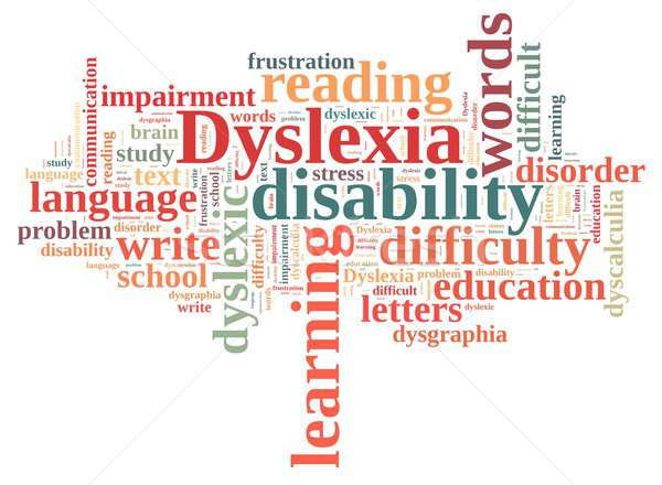 Stock photo: Word cloud about dyslexia