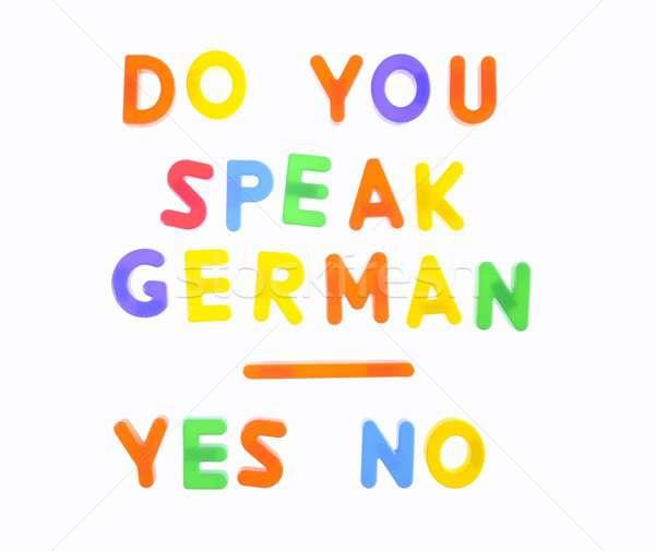 Do you speak german. Stock photo © asturianu