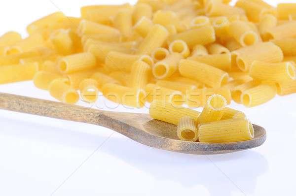 Macaroni geïsoleerd ruw witte voedsel koken Stockfoto © asturianu