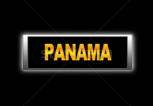 Panama megvilágított felirat háttér ünnep vakáció Stock fotó © asturianu