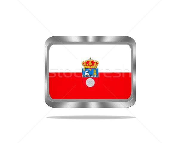 Metal Cantabria flag. Stock photo © asturianu