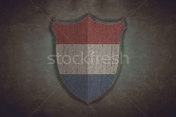 Schirm holland Flagge Illustration alten Hintergrund Stock foto © asturianu