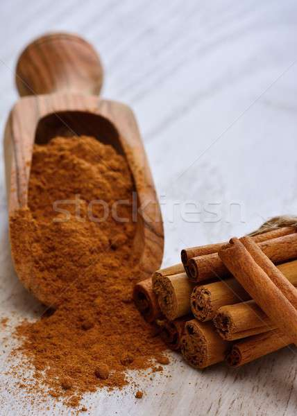 Cinnamon sticks and powder on table Stock photo © asturianu