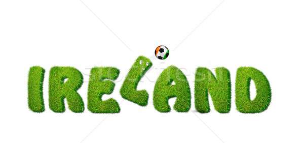 Ierland voetbal illustratie witte sport ontwerp Stockfoto © asturianu