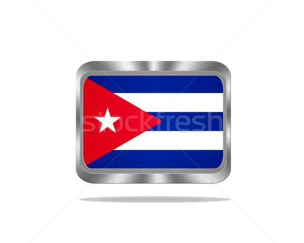 металл Куба флаг иллюстрация белый фон Сток-фото © asturianu
