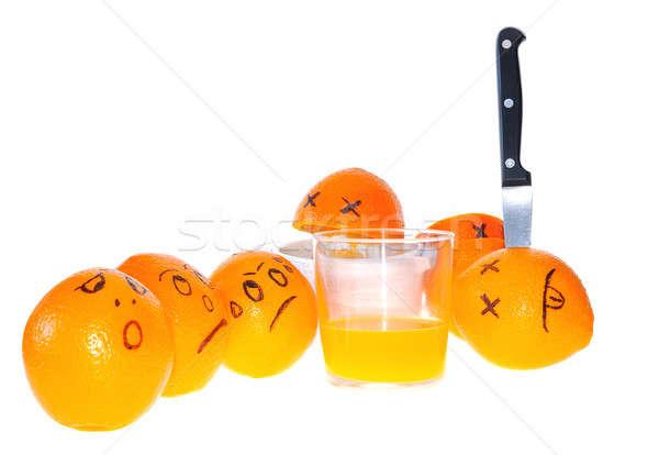 Anliegen Orangen Orangensaft Obst Gesundheit orange Stock foto © asturianu