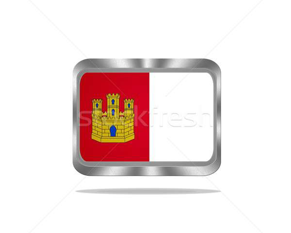 Metal Castilla La Mancha flag. Stock photo © asturianu