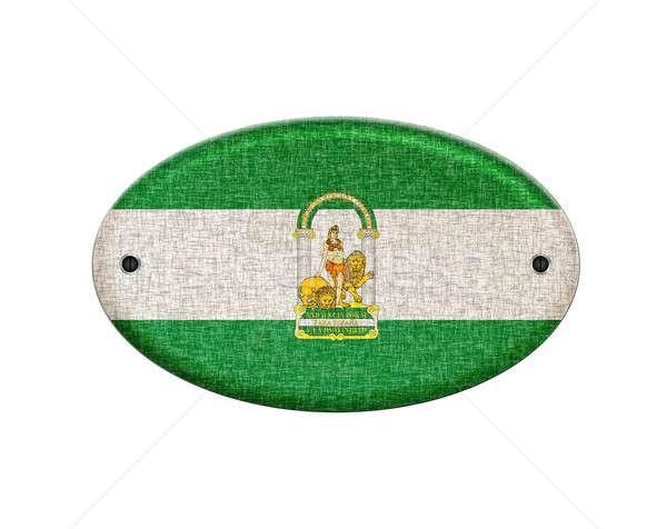 Wooden Andalusia flag. Stock photo © asturianu