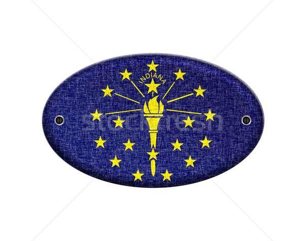 Indiana örnek dizayn imzalamak ülke Stok fotoğraf © asturianu
