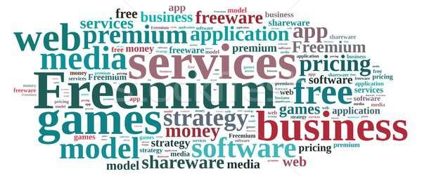 Freemium. Stock photo © asturianu