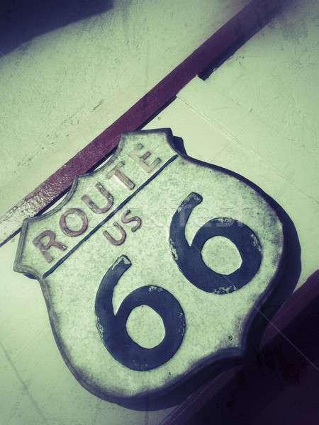 Route 66 sign. Stock photo © asturianu